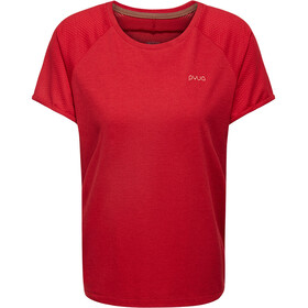 PYUA Skip S T-Shirt Dames, red melange